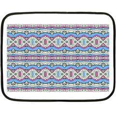 Aztec Style Pattern In Pastel Colors Mini Fleece Blanket (two Sided) by dflcprints