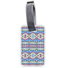 Aztec Style Pattern In Pastel Colors Luggage Tag (one Side) by dflcprints
