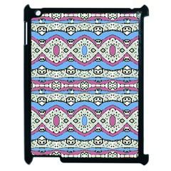 Aztec Style Pattern In Pastel Colors Apple Ipad 2 Case (black) by dflcprints