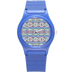 Aztec Style Pattern In Pastel Colors Plastic Sport Watch (small) by dflcprints