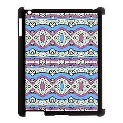 Aztec Style Pattern In Pastel Colors Apple Ipad 3/4 Case (black) by dflcprints