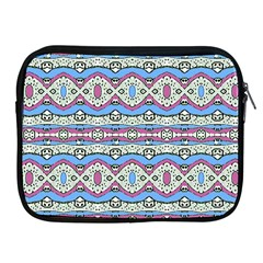 Aztec Style Pattern In Pastel Colors Apple Ipad Zippered Sleeve by dflcprints