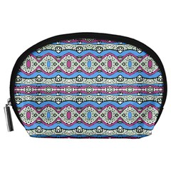 Aztec Style Pattern In Pastel Colors Accessory Pouch (large) by dflcprints