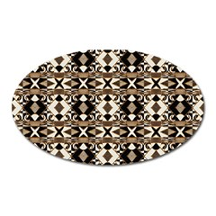 Geometric Tribal Style Pattern In Brown Colors Scarf Magnet (oval) by dflcprints