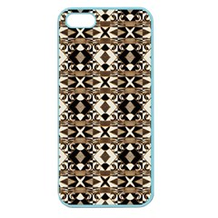 Geometric Tribal Style Pattern In Brown Colors Scarf Apple Seamless Iphone 5 Case (color) by dflcprints