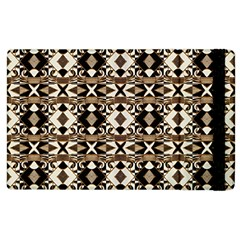 Geometric Tribal Style Pattern In Brown Colors Scarf Apple Ipad 2 Flip Case by dflcprints