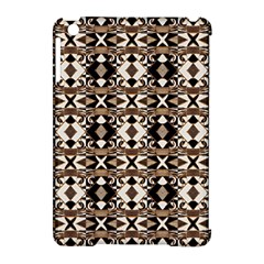 Geometric Tribal Style Pattern In Brown Colors Scarf Apple Ipad Mini Hardshell Case (compatible With Smart Cover) by dflcprints