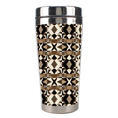 Geometric Tribal Style Pattern In Brown Colors Scarf Stainless Steel Travel Tumbler by dflcprints