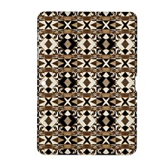 Geometric Tribal Style Pattern In Brown Colors Scarf Samsung Galaxy Tab 2 (10 1 ) P5100 Hardshell Case  by dflcprints