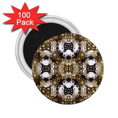 Baroque Ornament Pattern Print 2 25  Button Magnet (100 Pack) by dflcprints