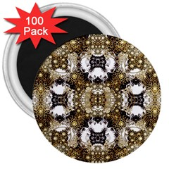 Baroque Ornament Pattern Print 3  Button Magnet (100 Pack) by dflcprints