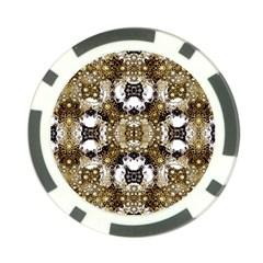 Baroque Ornament Pattern Print Poker Chip by dflcprints