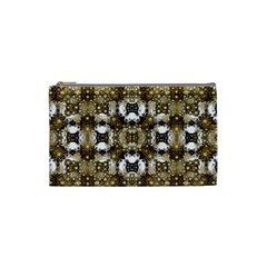 Baroque Ornament Pattern Print Cosmetic Bag (small) by dflcprints