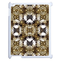 Baroque Ornament Pattern Print Apple Ipad 2 Case (white) by dflcprints