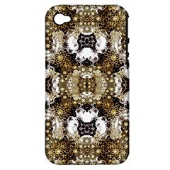 Baroque Ornament Pattern Print Apple Iphone 4/4s Hardshell Case (pc+silicone) by dflcprints