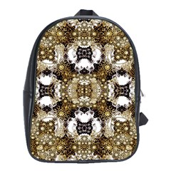 Baroque Ornament Pattern Print School Bag (xl) by dflcprints
