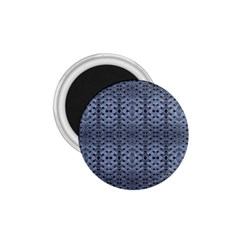 Futuristic Geometric Pattern Design Print In Blue Tones 1 75  Button Magnet by dflcprints