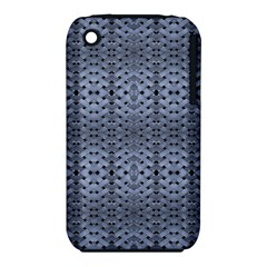 Futuristic Geometric Pattern Design Print In Blue Tones Apple Iphone 3g/3gs Hardshell Case (pc+silicone) by dflcprints