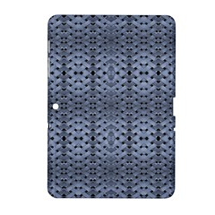 Futuristic Geometric Pattern Design Print In Blue Tones Samsung Galaxy Tab 2 (10 1 ) P5100 Hardshell Case  by dflcprints