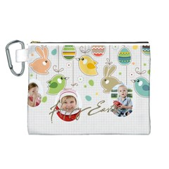 Easter By Easter   Canvas Cosmetic Bag (large)   Smhu2onpqyrt   Www Artscow Com Front
