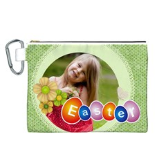 Easter By Easter   Canvas Cosmetic Bag (large)   Dy9nrqr05ouz   Www Artscow Com Front