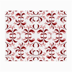 Floral Print Modern Pattern In Red And White Tones Glasses Cloth (small, Two Sided) by dflcprints