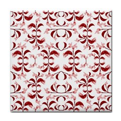 Floral Print Modern Pattern In Red And White Tones Face Towel by dflcprints
