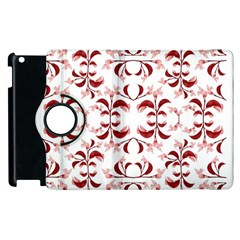 Floral Print Modern Pattern in Red and White Tones Apple iPad 2 Flip 360 Case by dflcprints