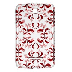 Floral Print Modern Pattern In Red And White Tones Samsung Galaxy Tab 3 (7 ) P3200 Hardshell Case  by dflcprints
