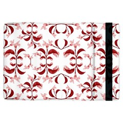 Floral Print Modern Pattern In Red And White Tones Apple Ipad Air Flip Case by dflcprints