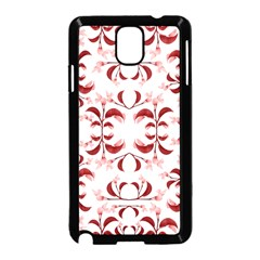 Floral Print Modern Pattern In Red And White Tones Samsung Galaxy Note 3 Neo Hardshell Case (black) by dflcprints