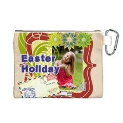 Easter By Easter   Canvas Cosmetic Bag (large)   Tkr1kh8tbscl   Www Artscow Com Back
