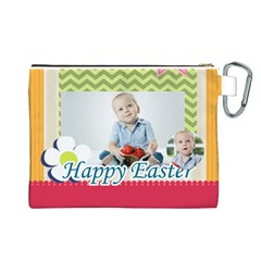 Easter By Easter   Canvas Cosmetic Bag (large)   0qgp7alucfx1   Www Artscow Com Back