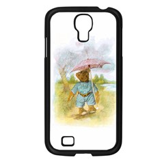Vintage Drawing: Teddy Bear In The Rain Samsung Galaxy S4 I9500/ I9505 Case (black) by MotherGoose