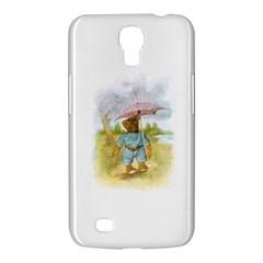 Vintage Drawing: Teddy Bear In The Rain Samsung Galaxy Mega 6 3  I9200 Hardshell Case by MotherGoose
