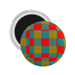 Squares In Retro Colors 2 25  Magnet by LalyLauraFLM