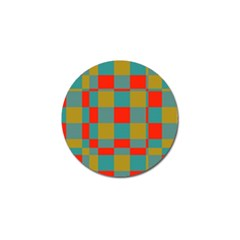 Squares In Retro Colors Golf Ball Marker by LalyLauraFLM