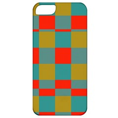 Squares In Retro Colors Apple Iphone 5 Classic Hardshell Case by LalyLauraFLM