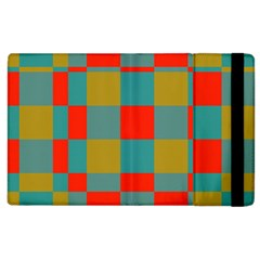 Squares In Retro Colors Apple Ipad 2 Flip Case by LalyLauraFLM