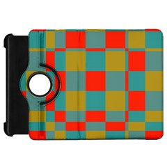Squares In Retro Colors Kindle Fire Hd Flip 360 Case by LalyLauraFLM