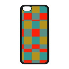 Squares In Retro Colors Apple Iphone 5c Seamless Case (black) by LalyLauraFLM