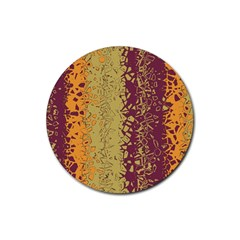 Scattered Pieces Rubber Coaster (round) by LalyLauraFLM