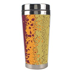 Scattered Pieces Stainless Steel Travel Tumbler by LalyLauraFLM
