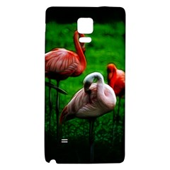 3pinkflamingos Samsung Note 4 Hardshell Back Case by bloomingvinedesign