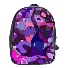 Blue Purple Chaos School Bag (xl) by LalyLauraFLM