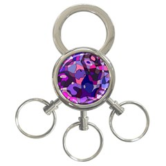 Blue Purple Chaos 3 Ring Key Chain by LalyLauraFLM