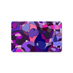 Blue Purple Chaos Magnet (name Card) by LalyLauraFLM