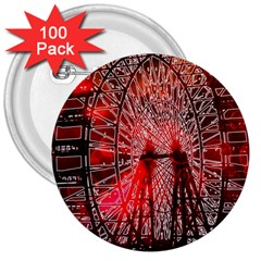 Vintage 1893 Chicago Worlds Fair Ferris Wheel 3  Button (100 Pack) by bloomingvinedesign