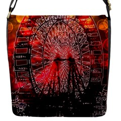 Vintage 1893 Chicago Worlds Fair Ferris Wheel Flap Closure Messenger Bag (small) by bloomingvinedesign