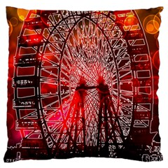 Vintage 1893 Chicago Worlds Fair Ferris Wheel Standard Flano Cushion Case (Two Sides) by bloomingvinedesign